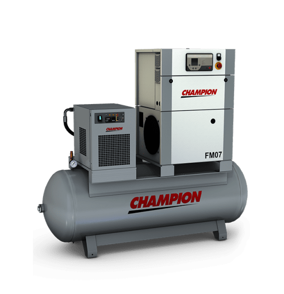 Champion FM 7 - 10 bar 500LT Tank + Dryer
