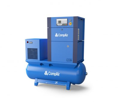 CompAir L11RS - 08 - 500L Airstation - Regulated Speed Rotary Screw Compressor - Air Receiver - Dryer - Package