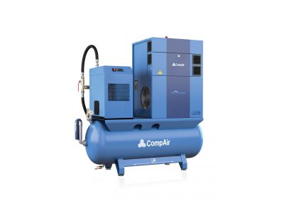 CompAir L07RS - 10 - 270L Airstation - Regulated Speed Rotary Screw Compressor - Air Receiver - Dryer - Package