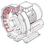 side channel blower diagram